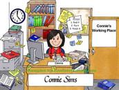 Friendly Folks Personalized Office Desk