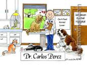 Friendly Folks Veterinarian Personalized Cartoon