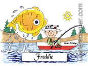Friendly Folks Fishing Personalized Print
