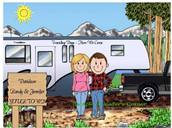 Friendly Folks Fifth Wheel Trailer