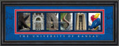 Kansas Officially Licensed Framed Letter Art