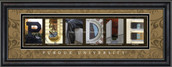 Purdue Officially Licensed Framed Letter Art