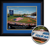 Personalized MLB Stadium Card Sports Print in black wood frame