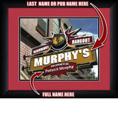 Personalized NHL Pub Hangout Sports Prints in black wood frame