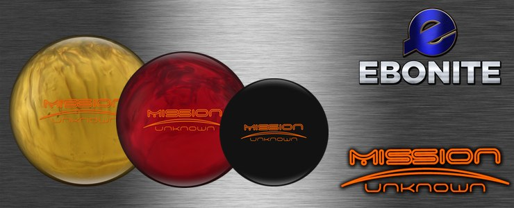 Ebonite Mission Unknown, Black, Red and Gold