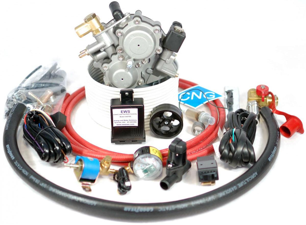 CNG Conversion Kit For 6 Cylinder Carburetor Gasoline Engines Model CNGC6