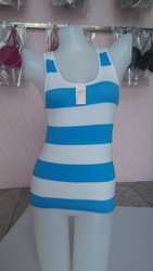 RACERBACK STRIPED  TANK TOP STYLE 805