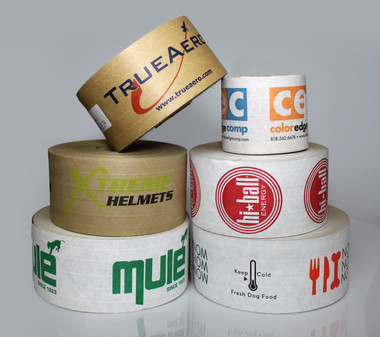 Custom Printed Reinforced Gummed Tape Example Prints from Tape Jungle