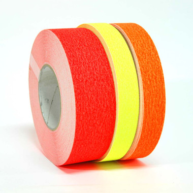 """Sure Step Fluorescent (69023) - Non-Skid Safety Tapes - 3 Colors - Fluorescent Red, Fluorescent Yellow, Fluorescent Orange - 1"""" to 12"""" Rolls - 60 Feet - TapeJungle.com - 305-231-8273."""