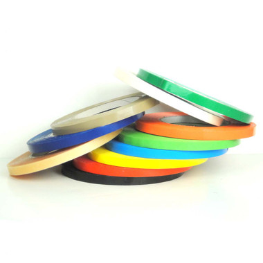 "Colored Bag Sealing Tape, UPVC Tape (9535) - 8 Colors, 3/8"", 1/2"", 5/8"" - Wholesale Prices by Tape Jungle.com, The Discount Tape Superstore."