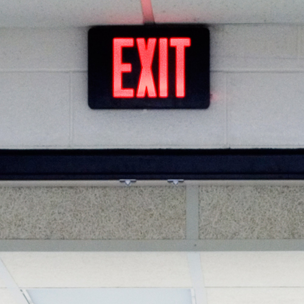 Exit Sign Hidden Camera