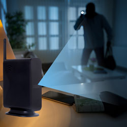 WiFi Router Nanny Camera on Table