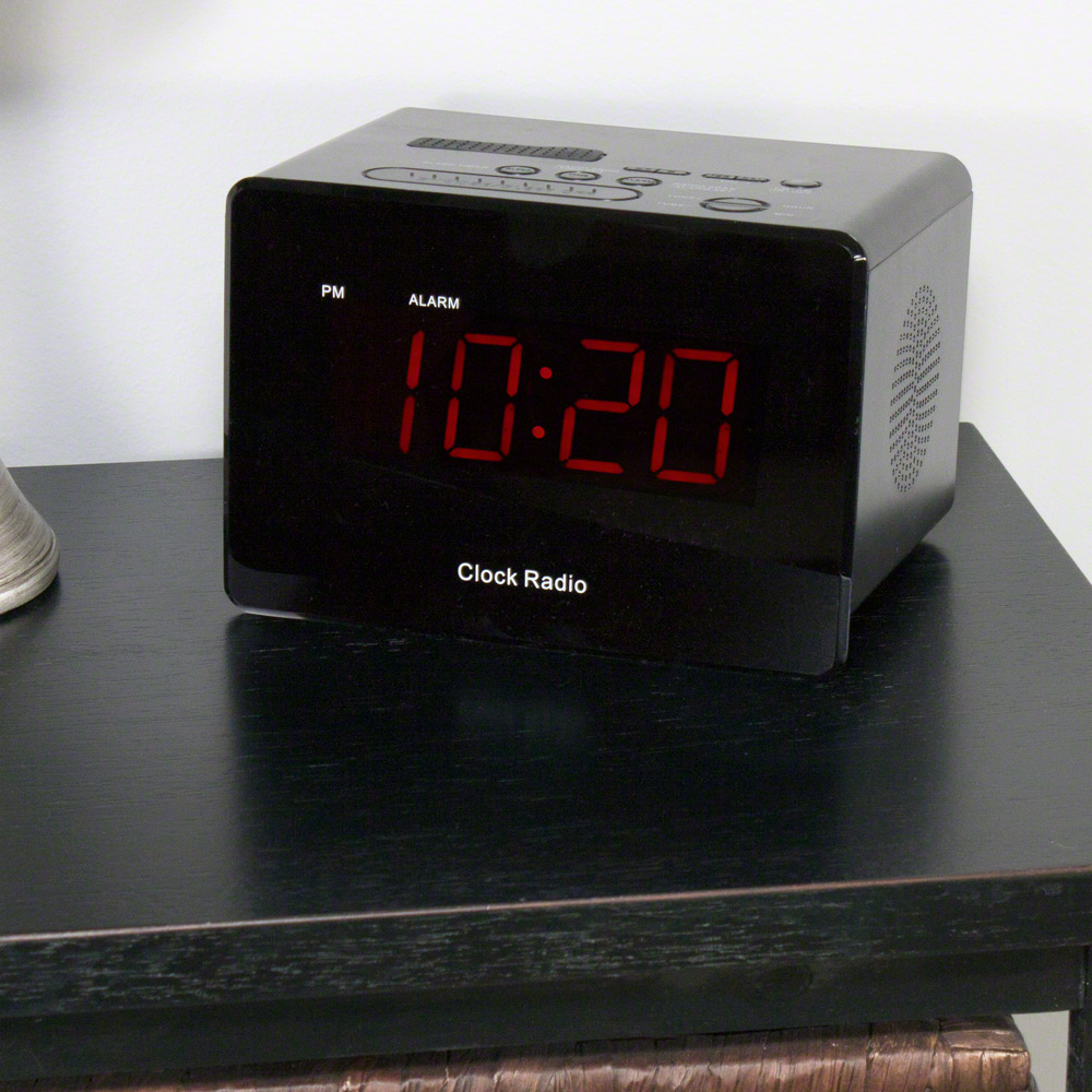 WiFi Alarm Clock Hidden Camera on Desk