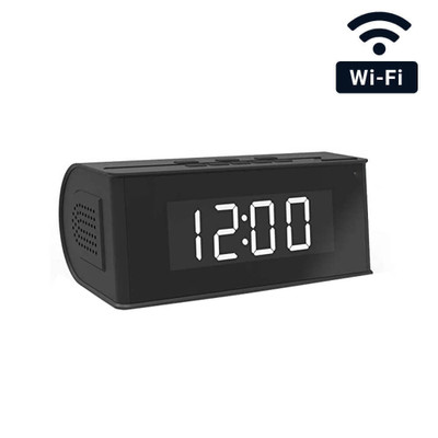 1080P HD WiFi Mini Bluetooth Speaker Clock Hidden Camera with Night Vision