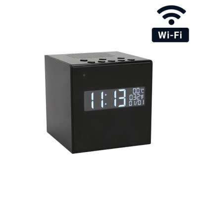 WiFi Streaming Bluetooth Desk Clock Hidden Camera