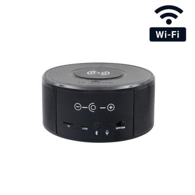 1080P HD WiFi Wireless Charger Blueooth Speaker Hidden Camera