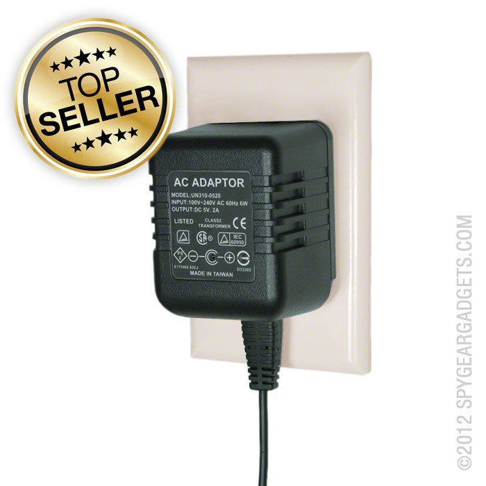 KJB Security Products AC Adapter HD Hidden Camera with DVR ... |Recording Hidden Cameras Product
