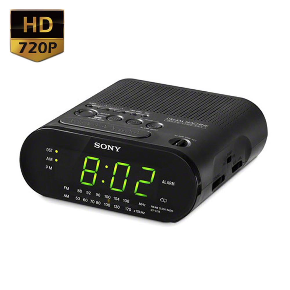 720P HD Alarm Clock Radio Motion Activated Hidden Camera