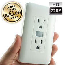 720P Electrical Outlet Hidden Camera