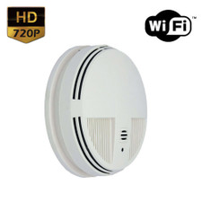 720P HD WiFi Internet Streaming AC Powered Smoke Detector Hidden Camera