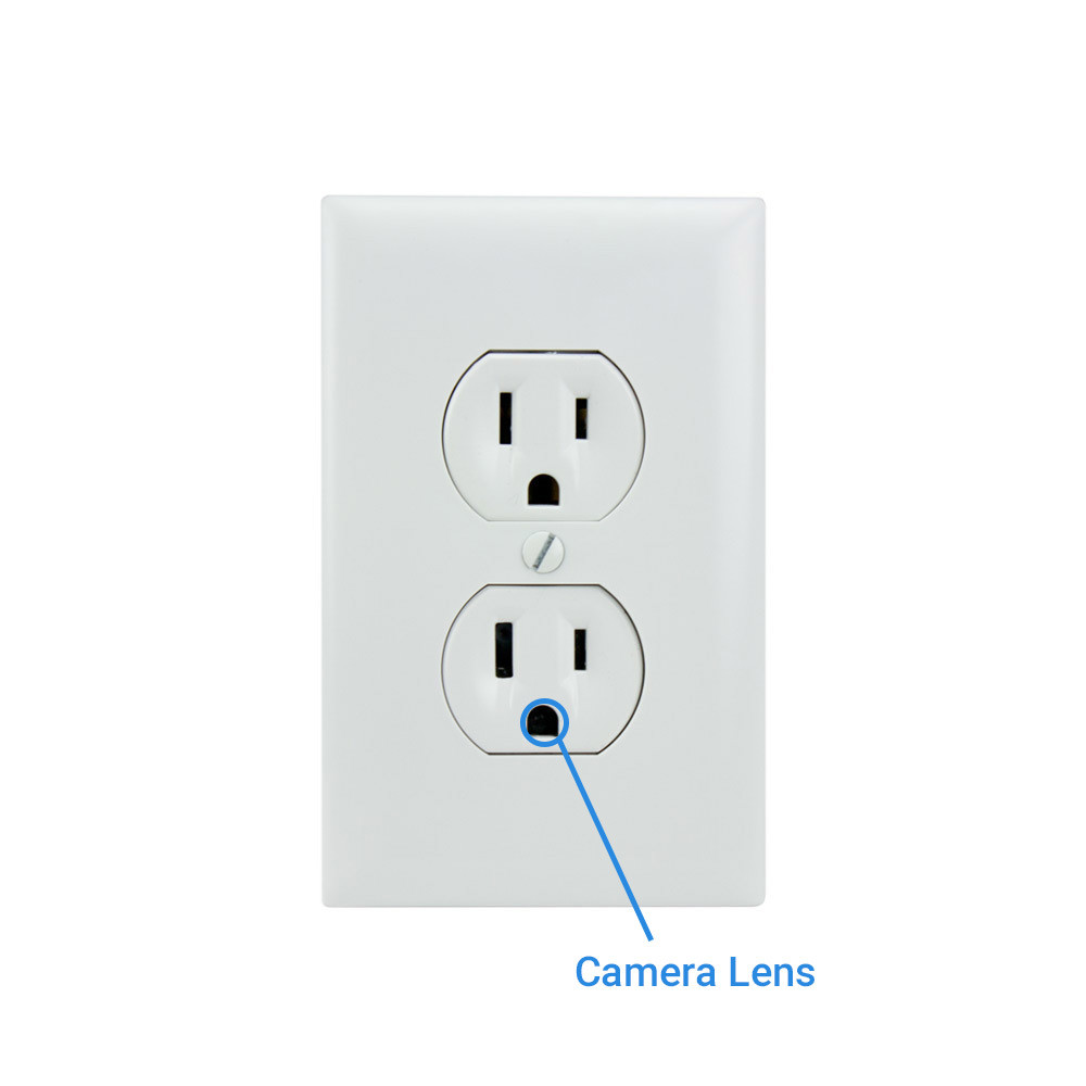 1080P HD AC Powered Electrical Outlet Hidden Spy Camera - SpygearGadgets