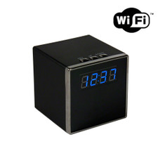 1080P HD WiFi Internet Streaming Mini Cube Clock Hidden Spy Camera