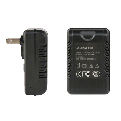 AC Adapter Camera Side and Front Views