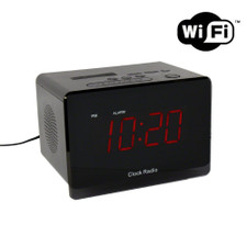 720P HD WiFi / Internet Streaming Alarm Clock Hidden Camera with Night Vision