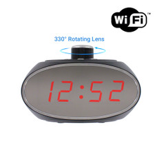 1080P HD WiFi Internet Streaming Clock Camera with Rotating Camera Lens