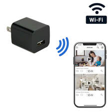 WiFi Streaming USB Wall Charger Outlet Hidden Camera
