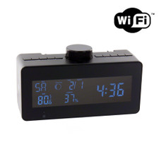 WiFi Streaming Hidden Camera Clock with Rotating Lens