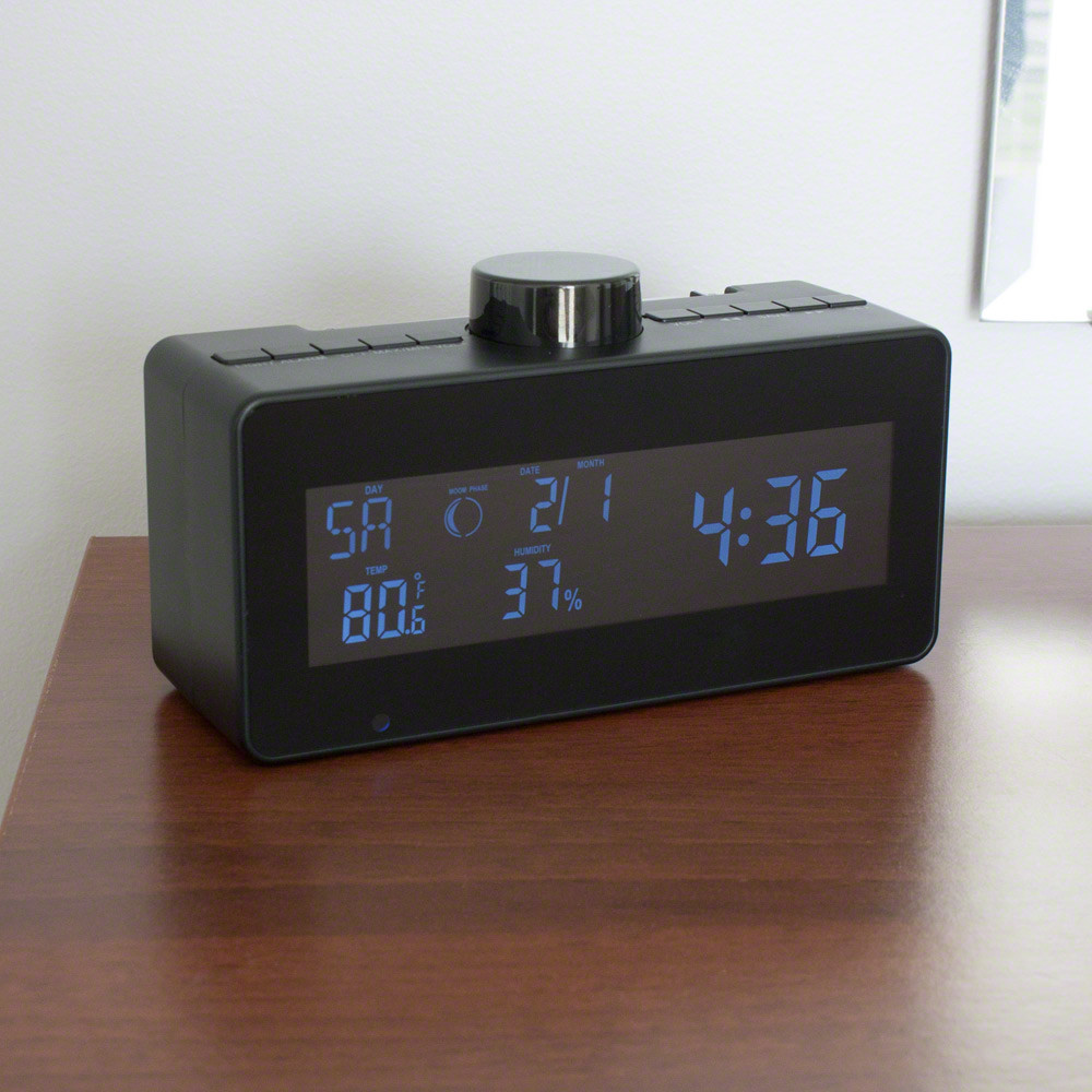 Motion Activated FM Clock Radio Hidden Camera