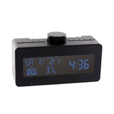 Self Recording Weather Station FM Clock Radio Hidden Camera