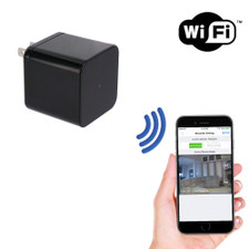 1080P HD WiFi Streaming USB Wall Charger Hidden Camera with Night Vision