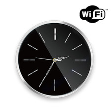 "1080P HD WiFi Internet Streaming 12"" Stylish Wall Clock Hidden Camera"
