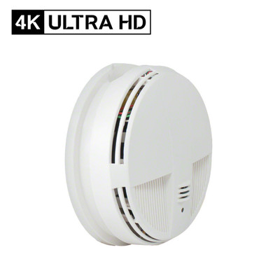 4K Ultra HD Smoke Detector Hidden Camera