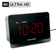 4K Ultra HD Alarm Clock Radio Hidden Camera