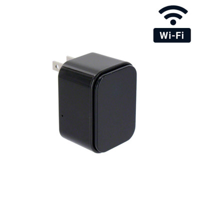 WiFi Streaming USB Charger Hidden Camera with Wide Angle Lens