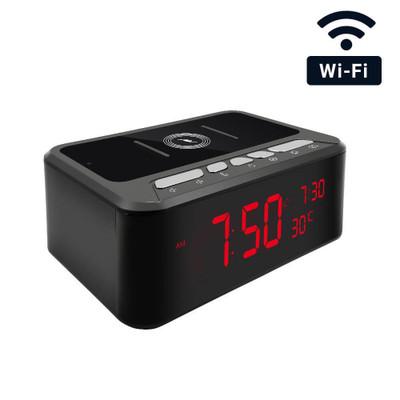 WiFi Streaming Desk Clock Hidden Camera with Night Vision