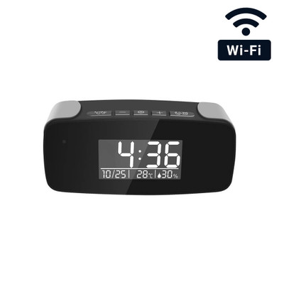 WiFi Streaming Mini Desk Clock Hidden Camera