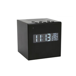 1080P HD WiFi Desk Clock Bluetooth Speaker Spy Camera with Night Vision
