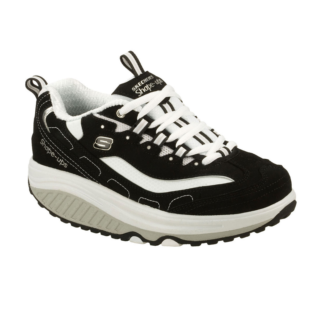 Sketchers Shape Ups Shoes Women Size 8.5 Fitness Toning Black White 11809EW
