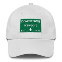Downtown Newport Exit Cotton Cap