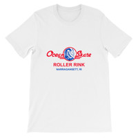 Ocean Skate Roller Rink Light Color Short-Sleeve Unisex T-Shirt