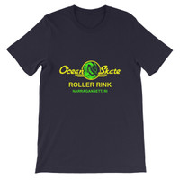 Ocean Skate Roller Rink Dark Color Short-Sleeve Unisex T-Shirt