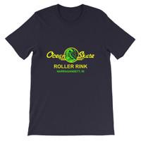 Ocean Skate Roller Rink Dark Color Short-Sleeve Unisex T-Shirt