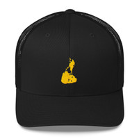 Block Island Yellow Logo Trucker Cap