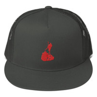 Block Island Red Logo Mesh Back Snapback