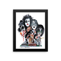 """""""Kiss Over Providence"""" Framed photo paper poster by Frankie Galasso"""