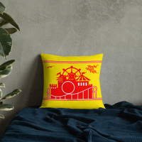 Rocky Point Park Yellow Premium Pillow